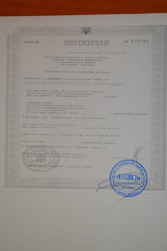 Halix Capital Лицензия на торговлю супер марткета Кошик 24