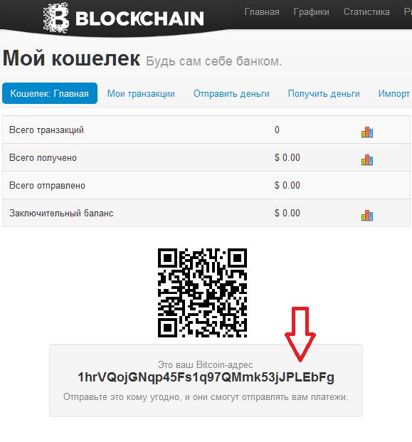 Открытие кошелька Bitcoin