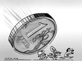 И снова обвал рубля